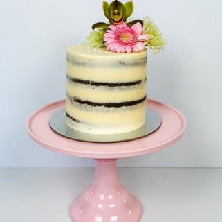 semi-naked Torte schlicht