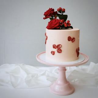 rosa rote Torte