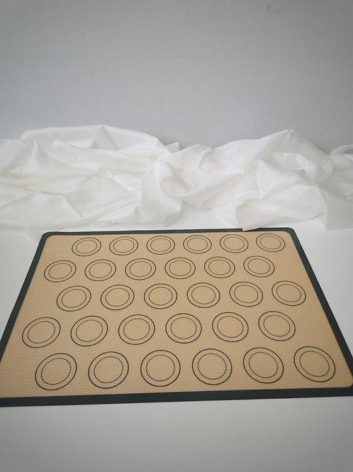 Macaron Matte aus Silikon mit Kreisen