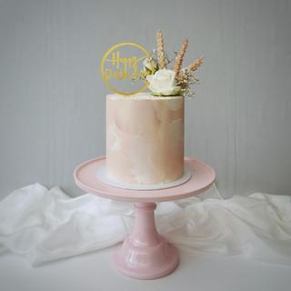 rosa weiß Geburtstagstorte