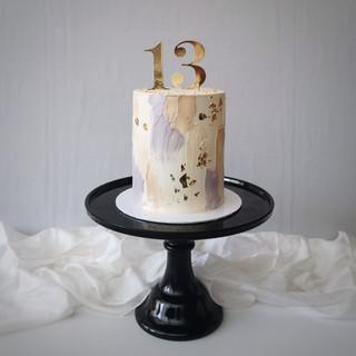 Geburtstagstorte Blattgold & verspachtel