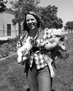 Sarah Clifford and wolf pups