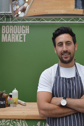 Philip Juma of Juma kitchen in borough market young middle eastern head chef and hospitality owner.