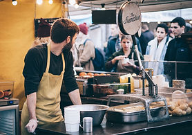 Food markets with street food for young hospitality owners.
