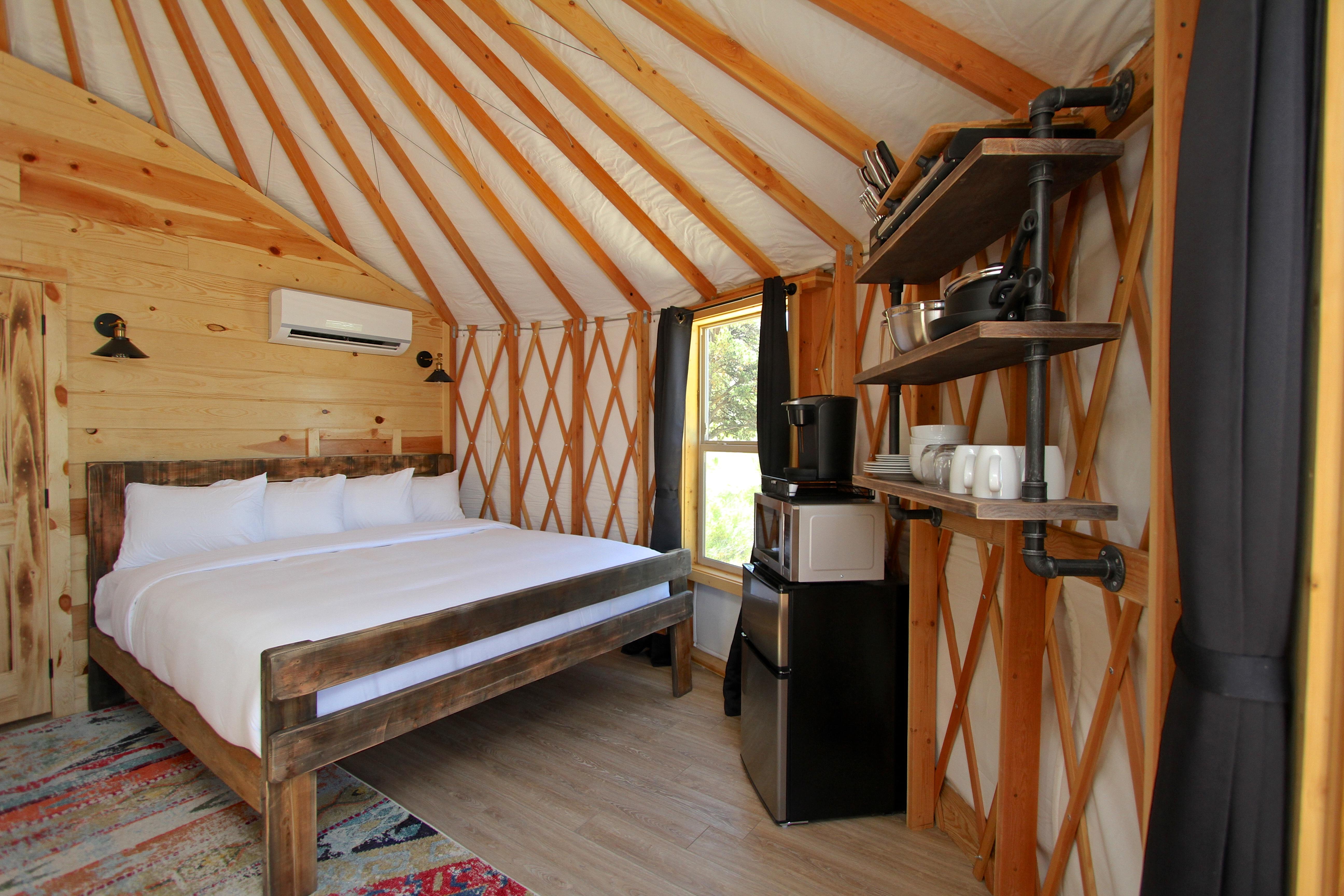 Yurt King Bed