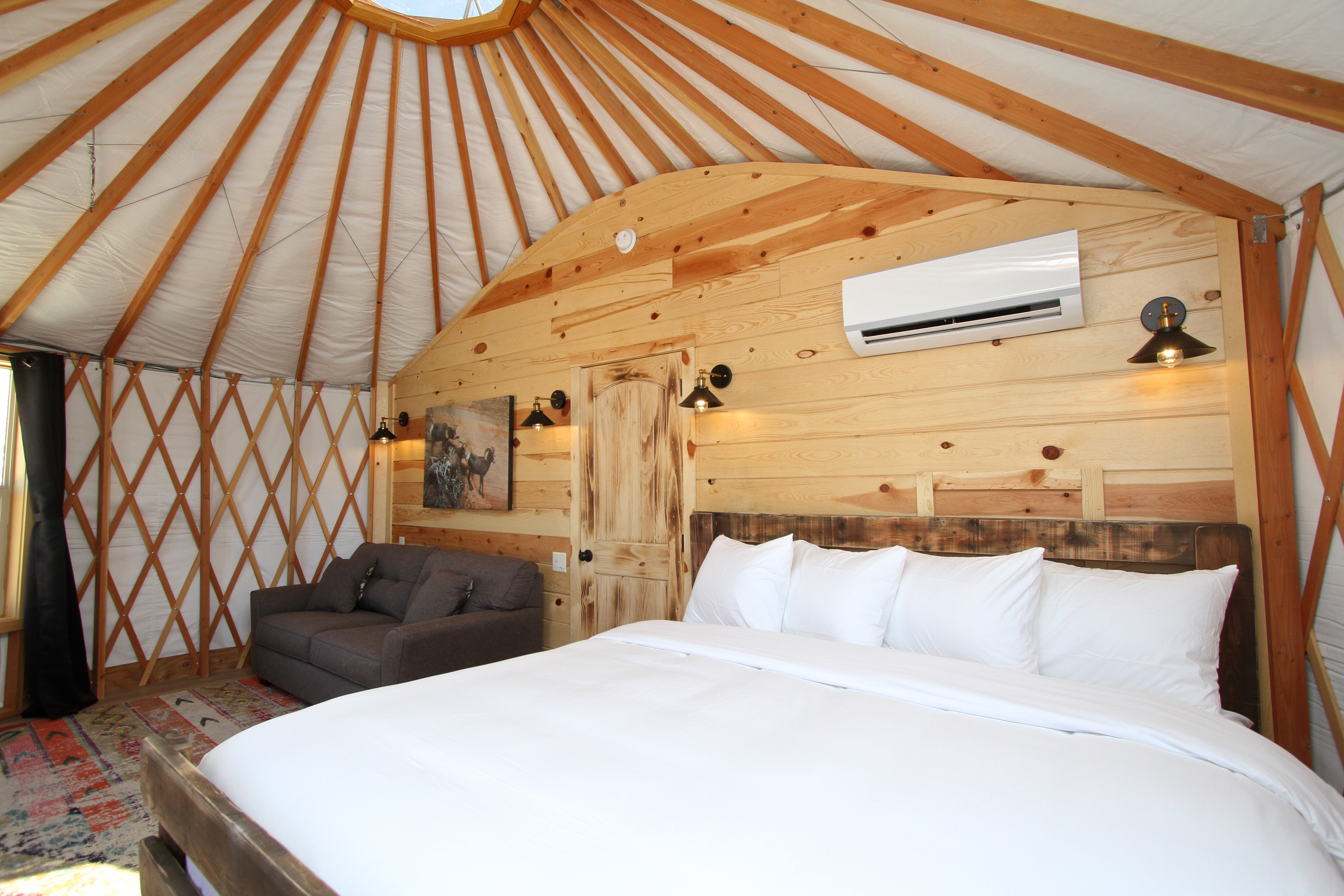 Yurt Bed and Sofa Right
