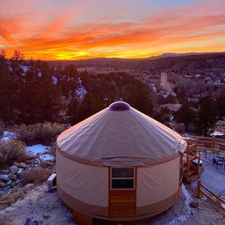 How's this for an evening view_ 😊_#yurt