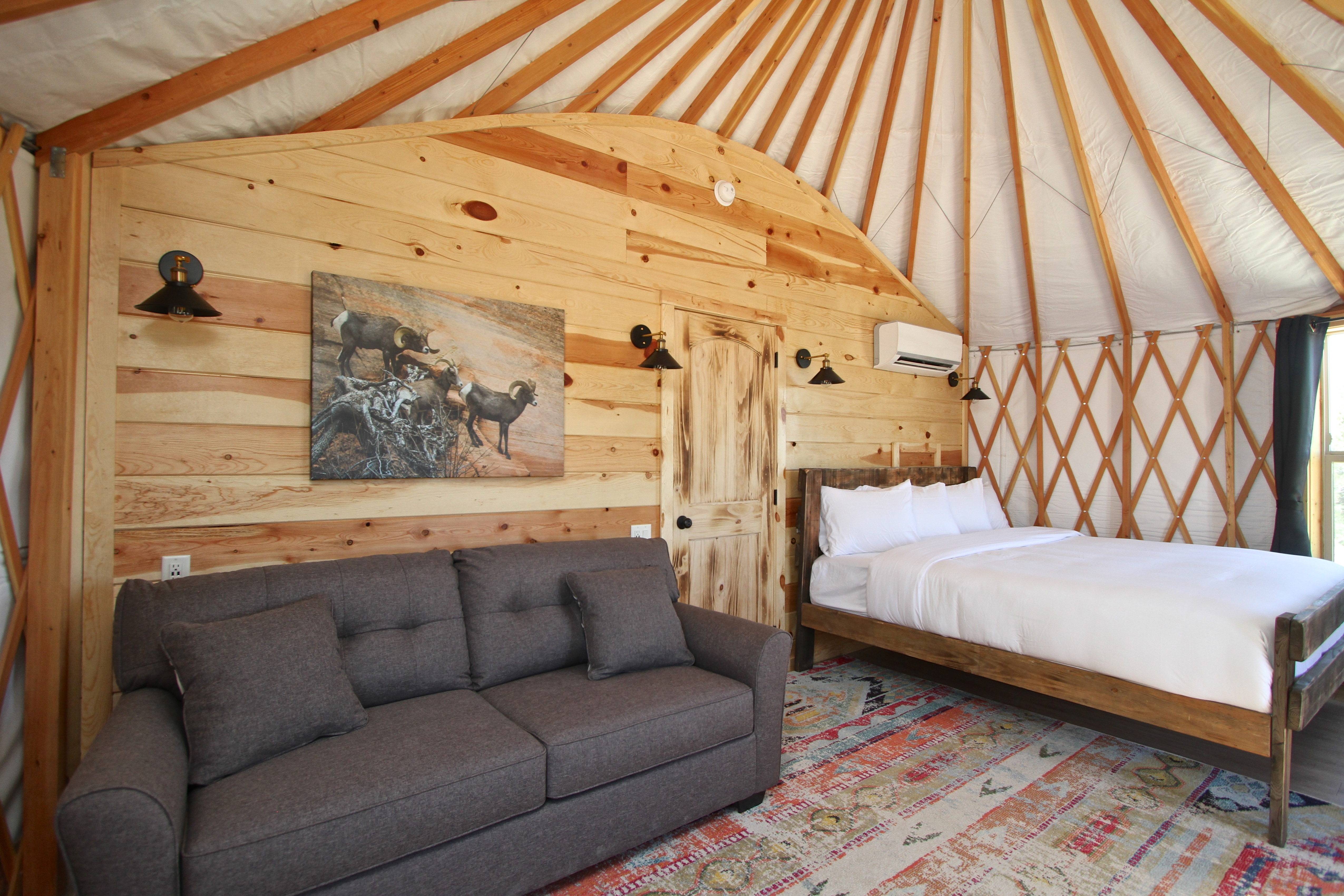 Yurt Bed and Sofabed Left