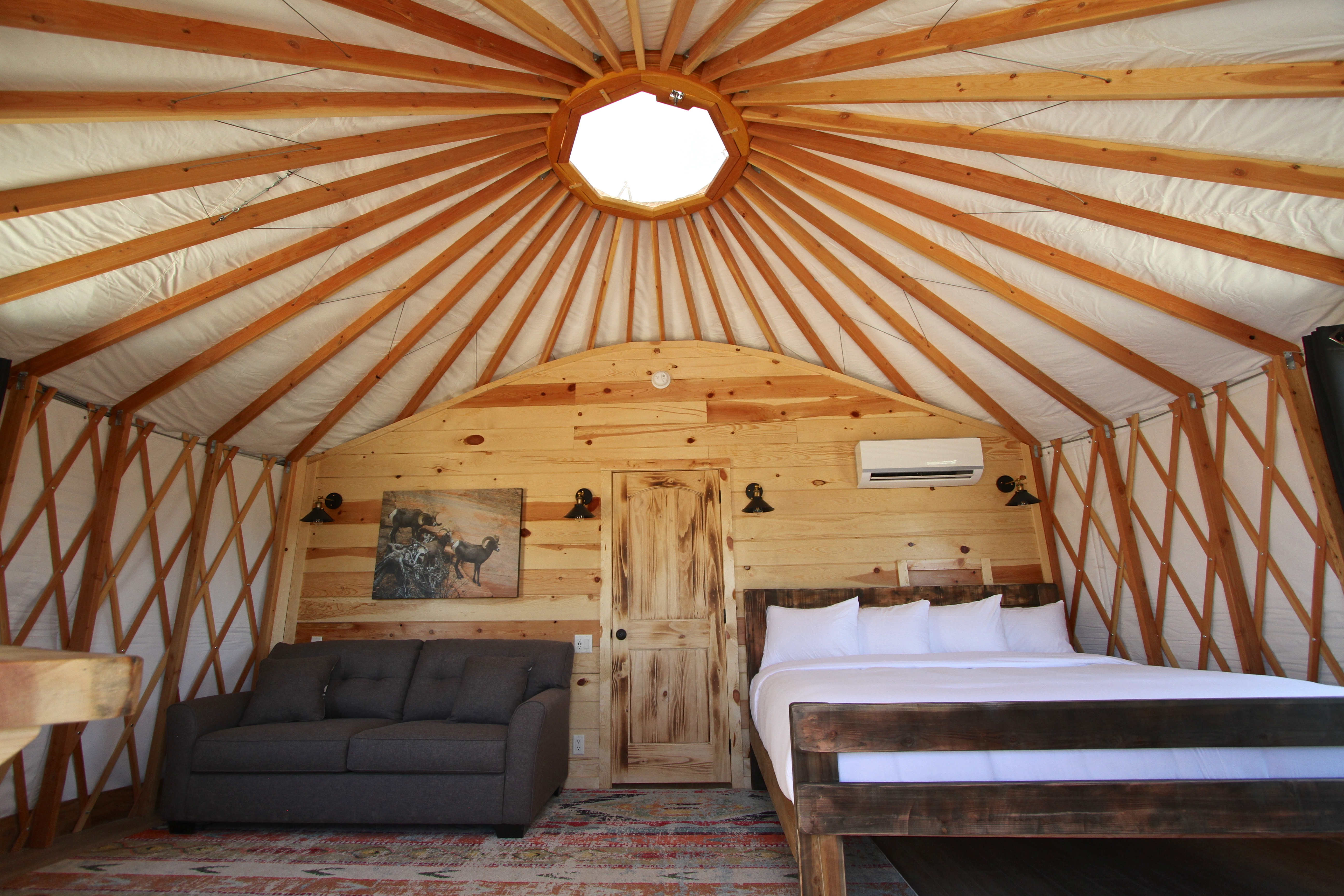 Yurt Bed and Sofa Front