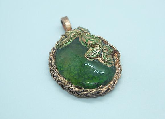 Electroformed Agate Pendant