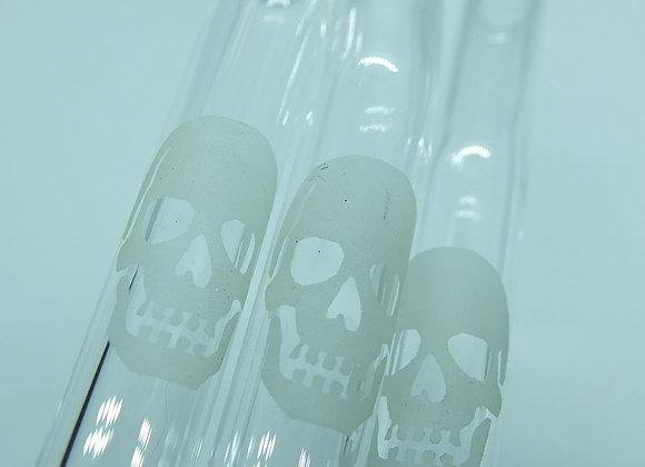 Glow Skull Forever Straw Set