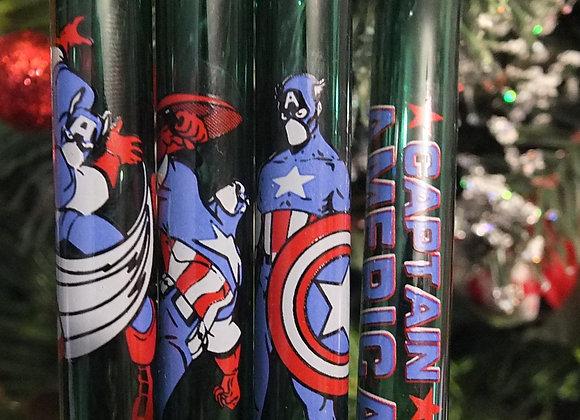 Captain American Forever Straw Set