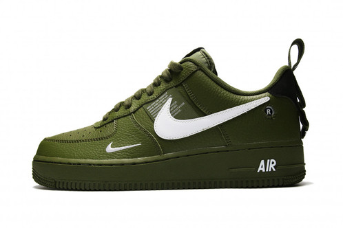 new styles fb98f a32dd Nike Air Force 1 Low `07 LV8 Utility - Olive Canvas White