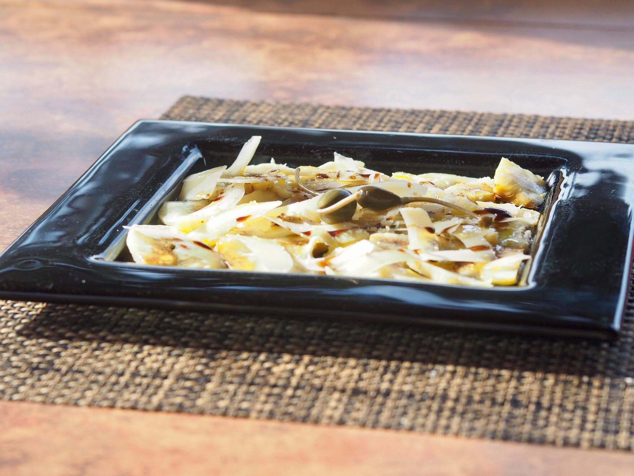 Carpaccio d'artichauts et parmesan