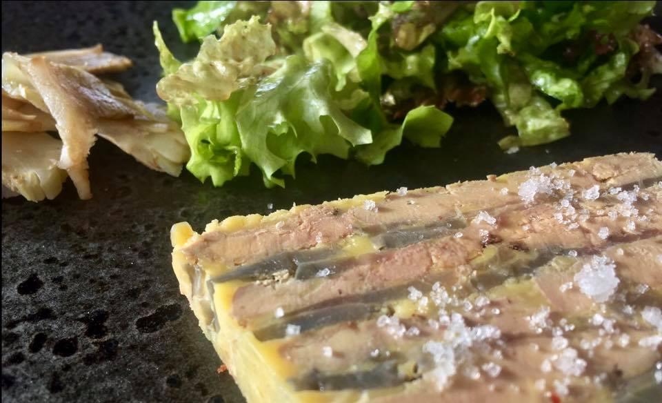 Pressée de foie gras et artichauts