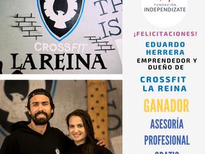 Eduardo Herrera emprendedor y dueño de Crossfit la Reina gana Asesoría Profesional de Fundación Inde