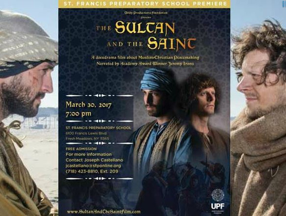 Invitation to our screening of the film The Sultan and the Saint to all members