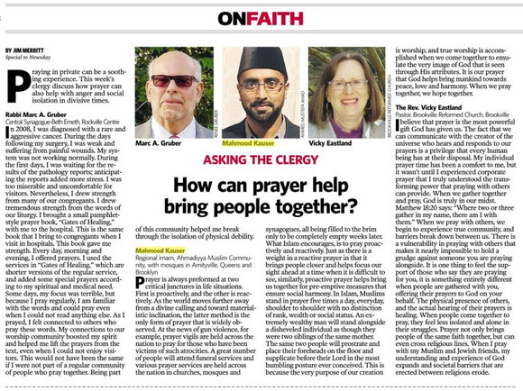 """""""HOW CAN PRAYER HELP BRING PEOPLE TOGETHER?"""""""