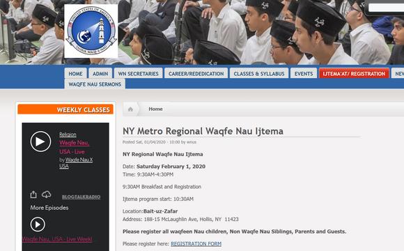 [jamaatny] NY Metro Waqfe Nau Regional Ijtema Sat Feb 1st, Baituz Zafar