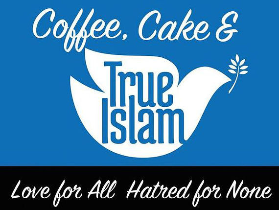 Coffee cake and Islam with guests on Thursday April 26th in Masjid
