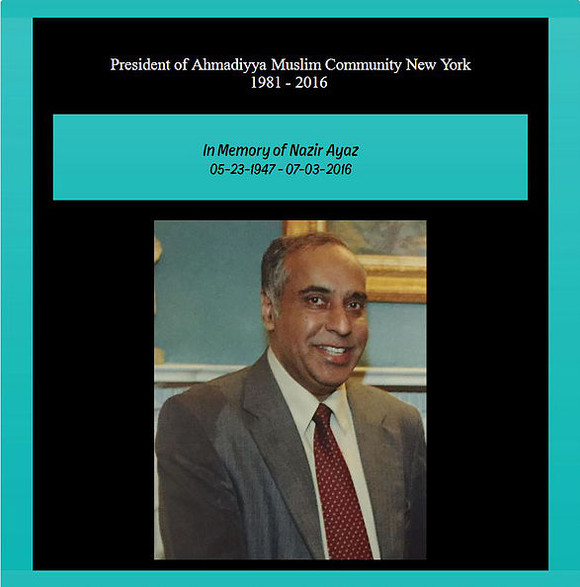 In Memory Of Nazir Ayaz - July, 2017