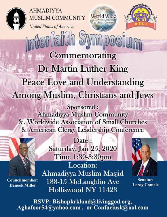 [jamaatny] Interfaith Program on Saturday, January 25th at 1:30 pm