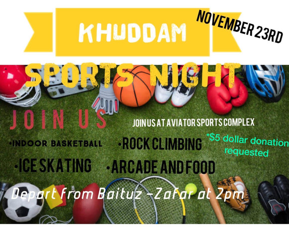 Khuddam Sports Night: November 23, 2019 at Aviator Sports Complex, Brooklyn, NY.