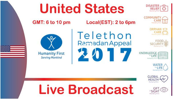 NY JAMA AT  Humanity First is holding its 2nd Global Telethon on Saturday ebba4e141188