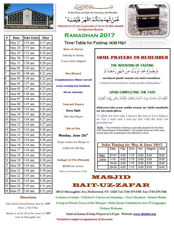 """[NY JAMA""""AT] Ramadhan Calendar"""