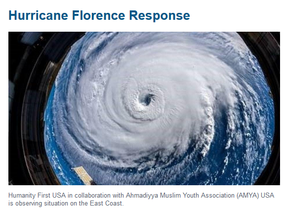 Hurricane Florence Response - What Humanity First is doing?