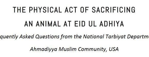 [NY JAMA'AT] Animal Sacrifice on Eid-ul-Adha