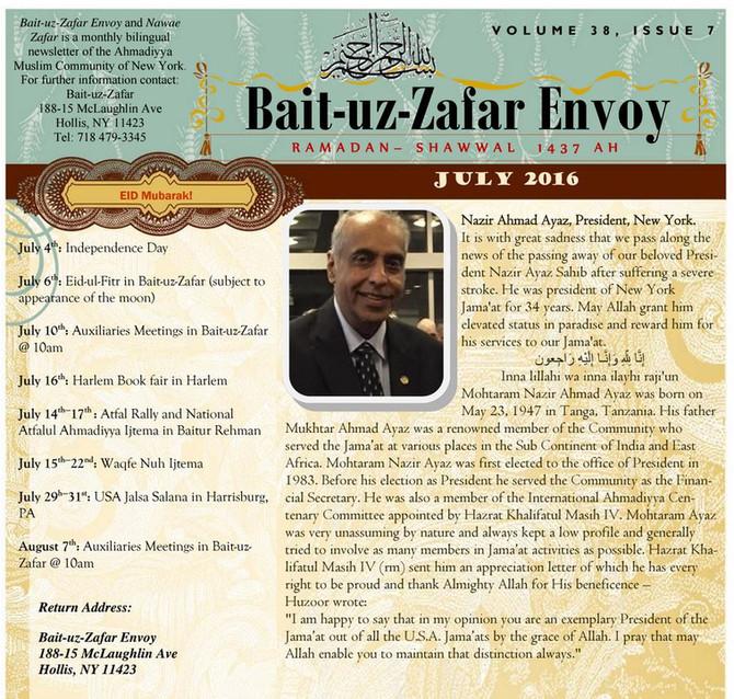 Bait-uz-Zafar Envoy