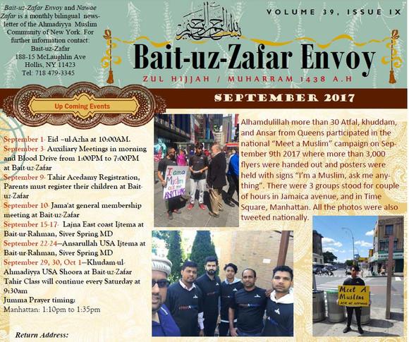 [NY JAMA'AT] September BZ Envoy