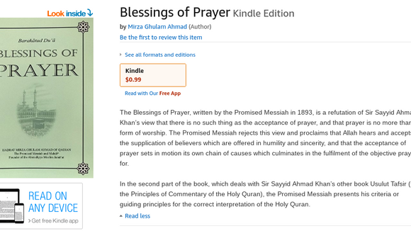 New Book on Ibook and Kindle : Blessings of Prayers