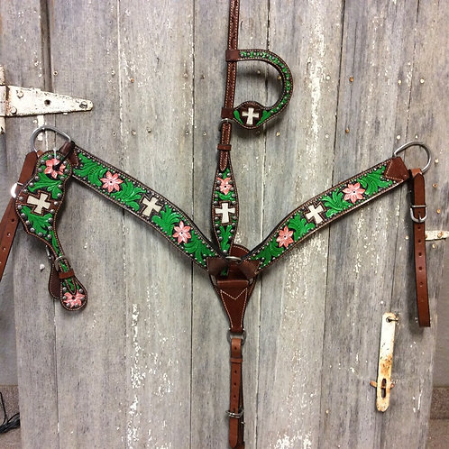 Bar H Hand Painted Cross Tack Set