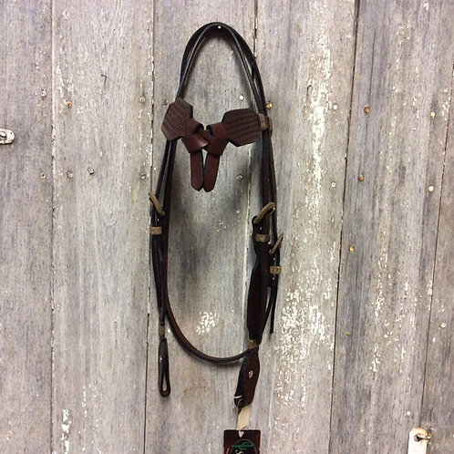 Basket Weave Rawhide Accent Headstall