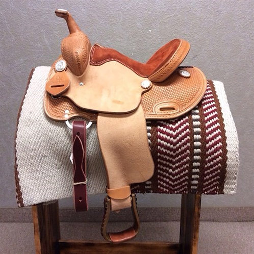 "12"" Cowboy Kids Saddle 'Barrel Racer'"