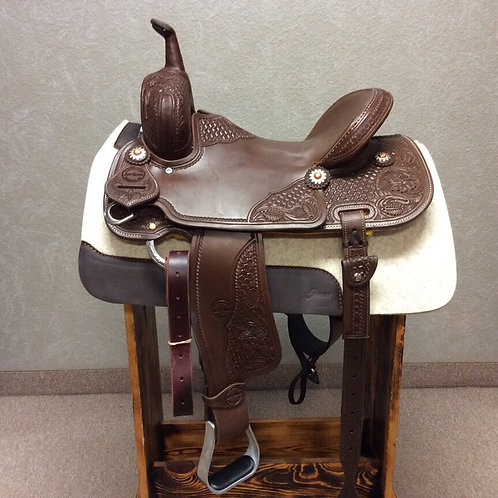 "14.5"" Jeff Smith Barrel Saddle (JSB-08)"