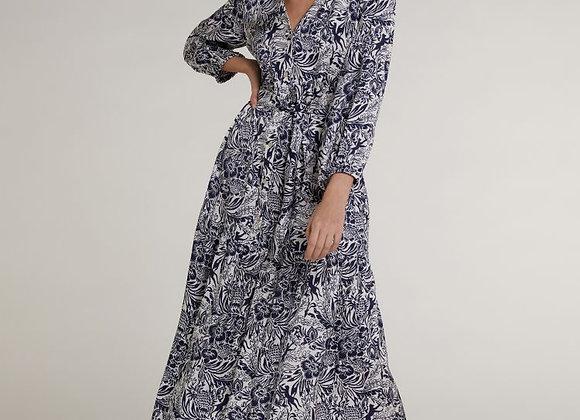 Longue robe imprimé bleu