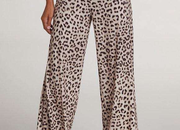 Pantalon fluide léopard Oui
