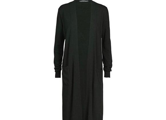 Long cardigan noir