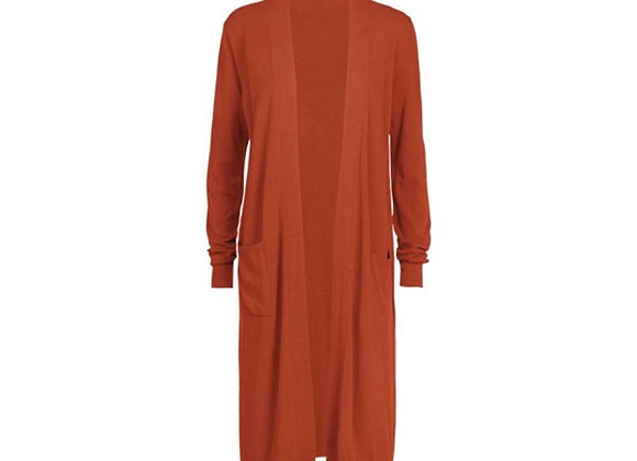 Long cardigan orange