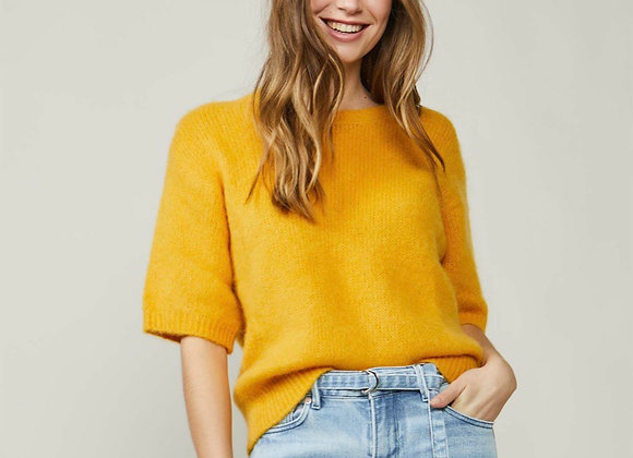 Pull mohair ocre