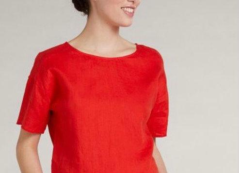 Top lin fiery red