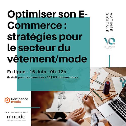 Optimiser son E-Commerce : stratégies pour l'industrie du secteur du vêtement