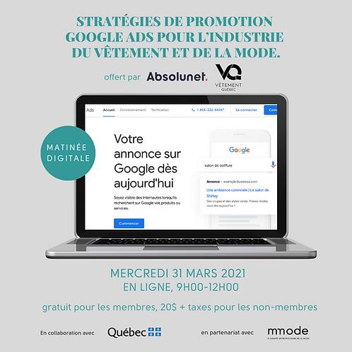 Stratégies de promotion Google Ads