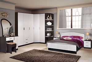 Спальня из ЛДСП белый+Дуб венге