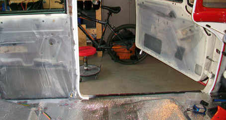 1955 Ford Part 47: Vapor Barrier for Interior Panels