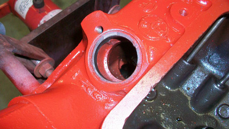 1955 Ford Part 7: Priming Oil Pump and Firewall Repaint
