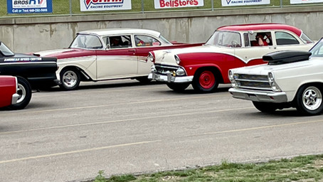 Running the 55 Fairlane during the Fast Fords Drag Race at Dragway 42! (Part 1)
